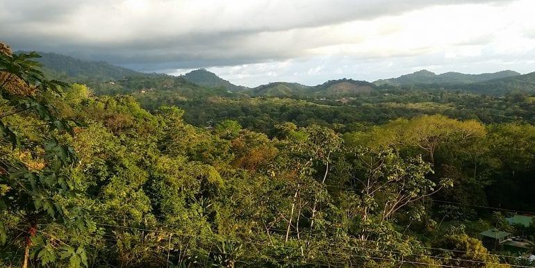 Vista zona Ojochal arriba (villas)